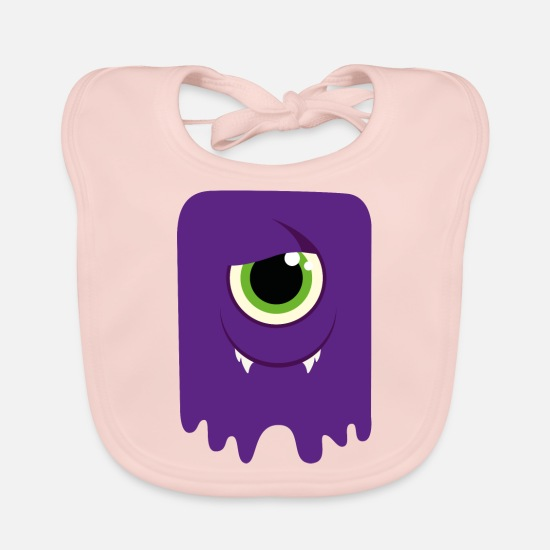 Carneval Baby Clothes - Monster / Alien Papa - Baby Bib rose