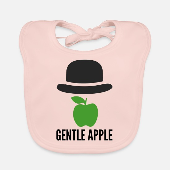 Apple Baby Clothes - Apple melon gentleman - Baby Bib rose