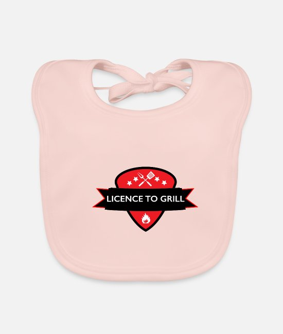 Grillmaster Baby Bibs - license to grill - Baby Bib rose