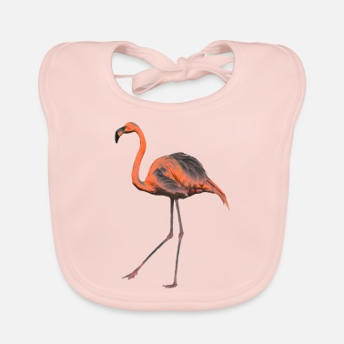 Chrome Chrome Flamingo - Baby Bib