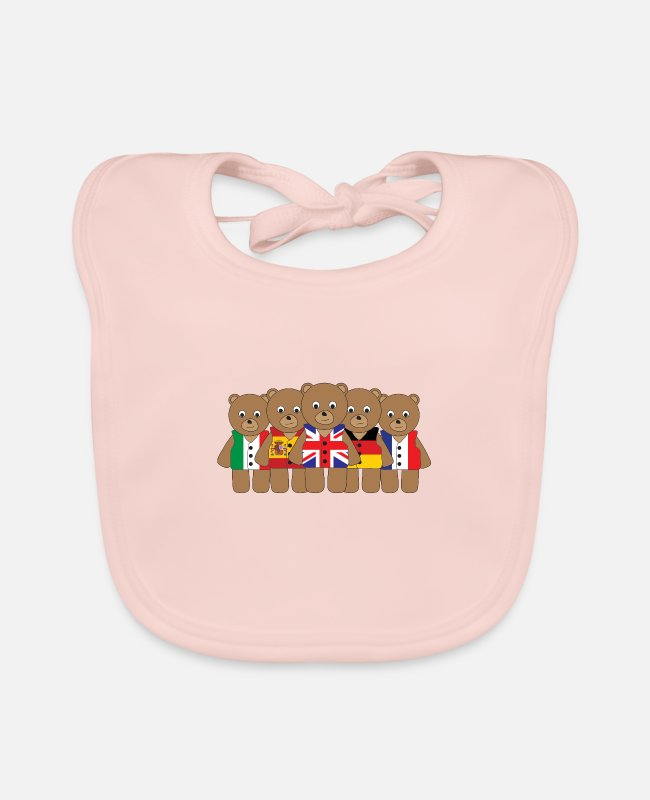 Eurovision Baby Bibs - The Big Five - Baby Bib rose