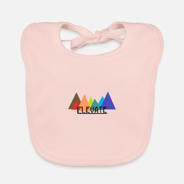 Elevator Elevated to the Mountains - Baby Bib