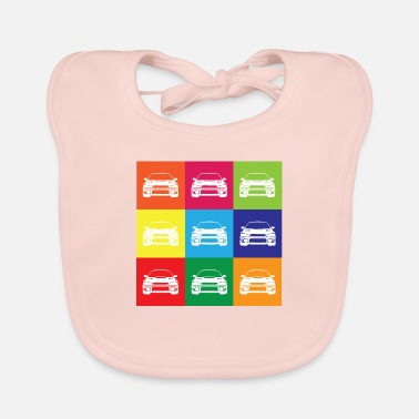 Multi Coloured Multi Colour Impreza - Baby Bib