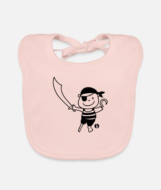 Sword Baby Bibs - Pirat - Pirate - Baby Bib rose