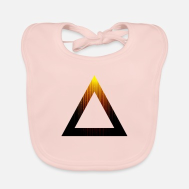 Abstract Abstract Triangle - Baby Bib