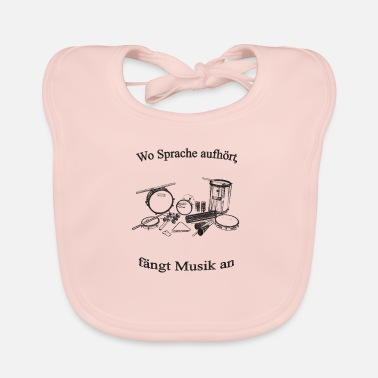 Percussion Percussion sw with text - Baby Bib