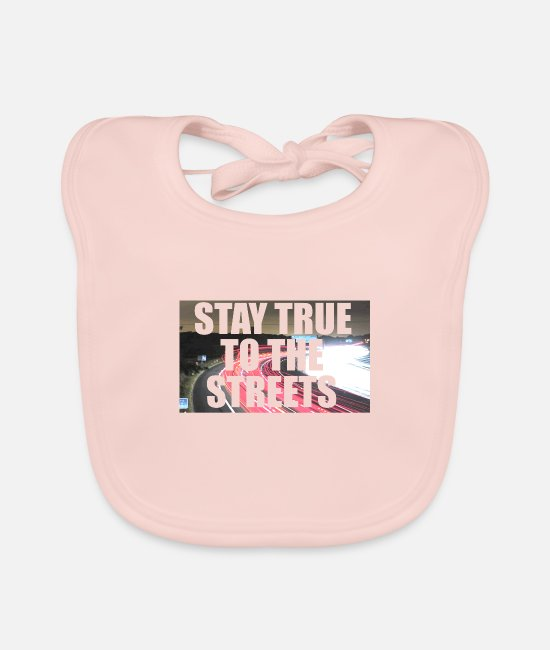 Rap Baby Clothes - Stay True to the Streets - Baby Bib rose