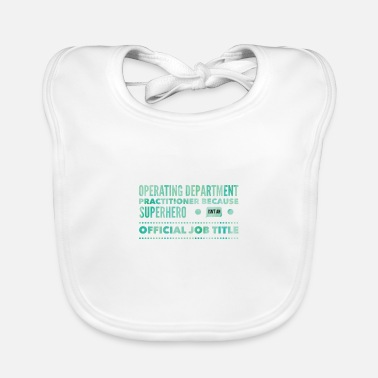 Operating Department Practice Superhero - Baby Bib