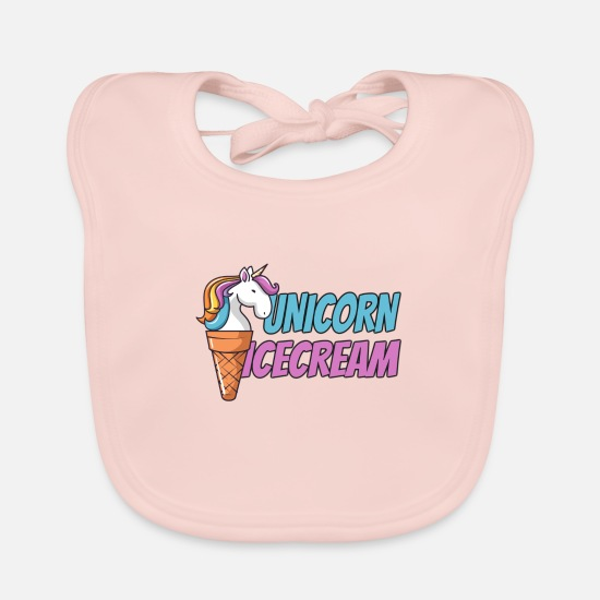 Gift Idea Baby Clothes - Unicorn Icecream - Baby Bib rose