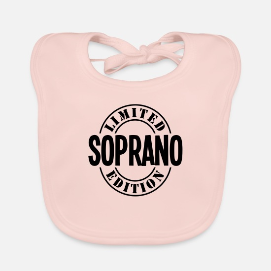 Soprano Baby Clothes - soprano limited edition stamp copy - Baby Bib rose