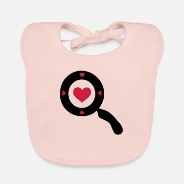 Comics ✔❤Vector Magnifying glass with a Heart design❤✔ - Baby Bib