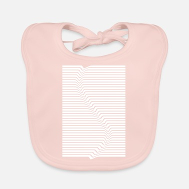 Abstract Abstract lines art surfing in the water - Baby Bib