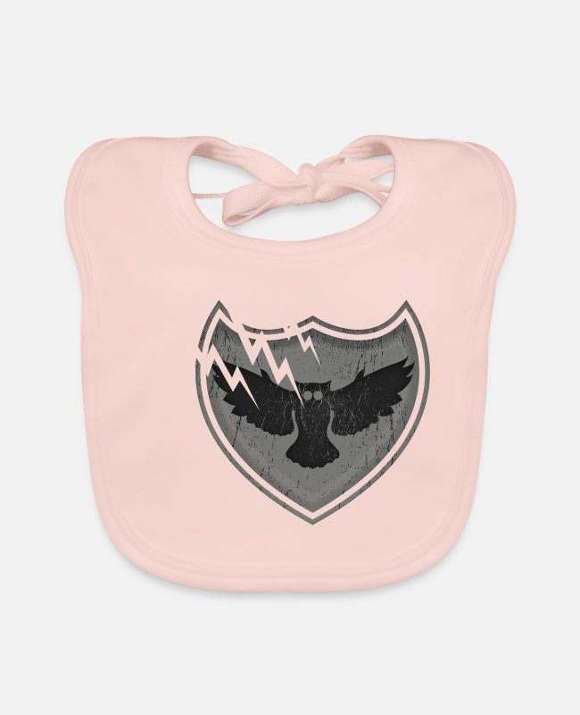 Nature Baby Bibs - Owls on the crest - owls on the crest - Baby Bib rose