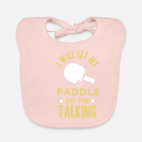 Table Tennis Baby Clothes - Lustuges table tennis - paddle shirt - Baby Bib rose