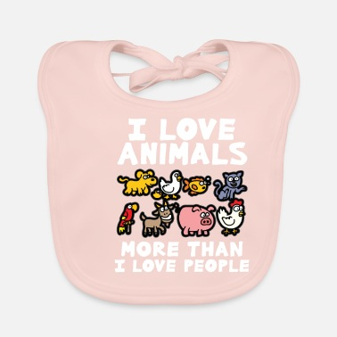 Animal Love I LOVE ANIMALS animal lover animal love animal protection - Baby Bib