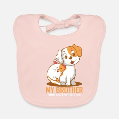 Paw Cat dog brother Funny animal lover gift - Baby Bib