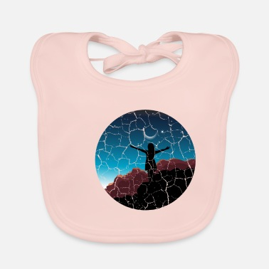 Spiritual Girl moon sunset Free woman gift - Baby Bib