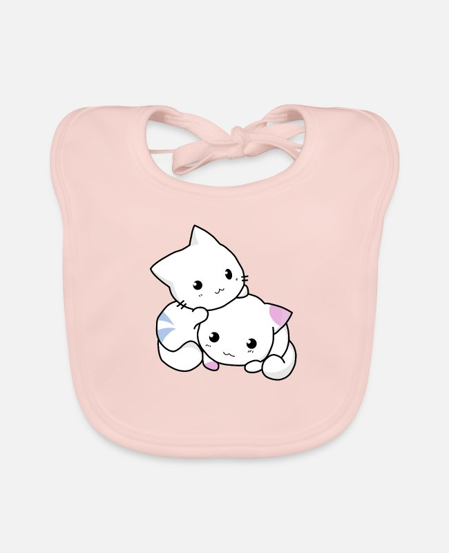 Cats And Dogs Collection Baby Bibs - cat, kitten, cute - Baby Bib rose
