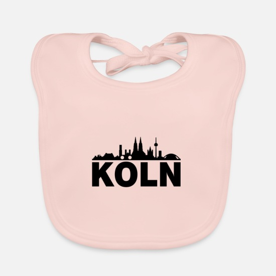 Cologne Cathedral Baby Clothes - Cologne; Cologne - Baby Bib rose