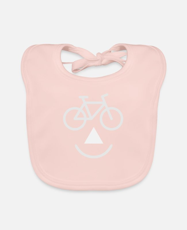 Biker Baby Bibs - bike biking - Baby Bib rose