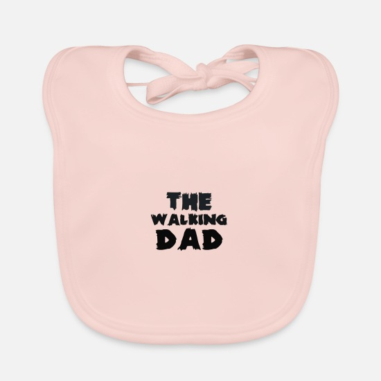 Gift Idea Baby Clothes - The walking dad - Baby Bib rose