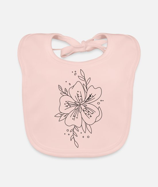 Design Lover Baby Bibs - Flower Flower - Baby Bib rose