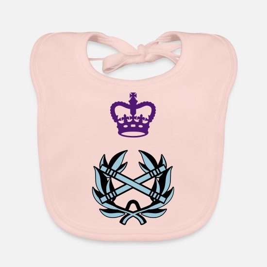 Canadian Armed Forces Baby Clothes - Field Marshal CANADA Army, Mision Militar ™ - Baby Bib rose