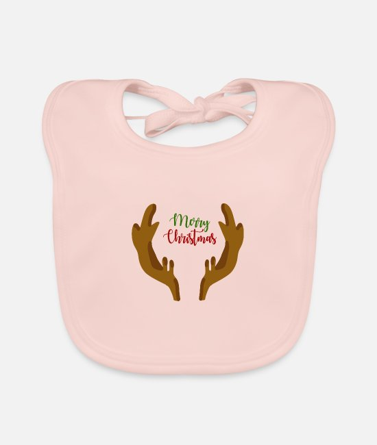 Stag Baby Bibs - Merry Christmas Christmas present - Baby Bib rose