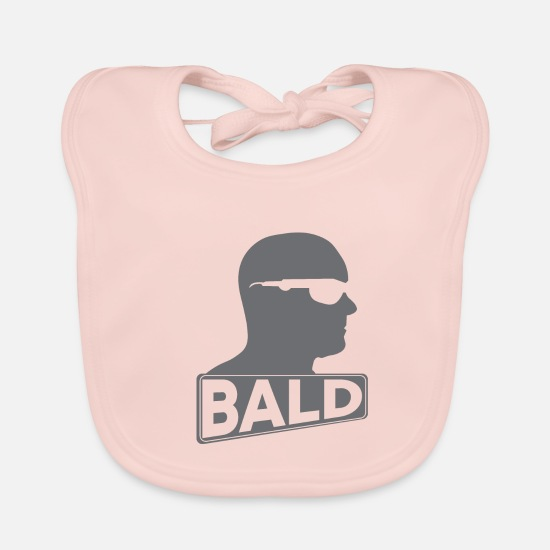 Gift Idea Baby Clothes - Bald - Baby Bib rose