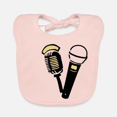 Old old old microphone - Baby Bib