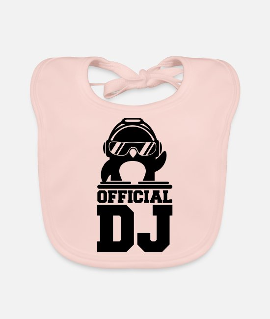 Celebrate Baby Bibs - Penguin official deejay mixer - Baby Bib rose