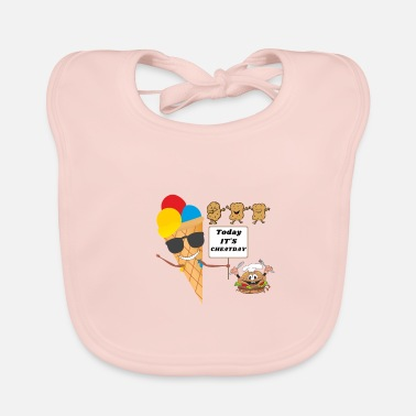 Today its Cheatday - Fastfood Gift Fitness - Baby Bib