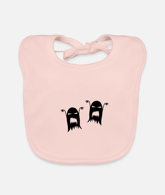 Horror Baby Bibs - ghosts - Baby Bib rose