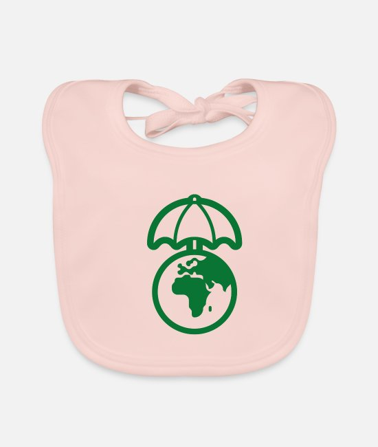 Waste Baby Clothes - Protect Nature - Baby Bib rose