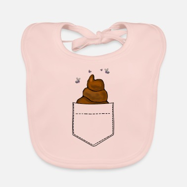 Restroom Breast pocket pile of droppings Funny - Baby Bib