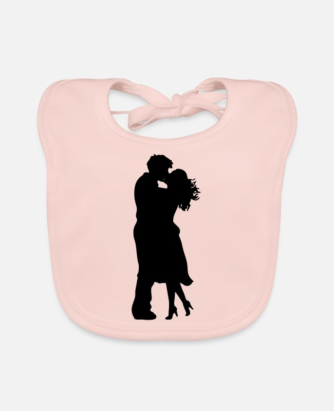 Passion Baby Bibs - Love couple silhouette - Baby Bib rose