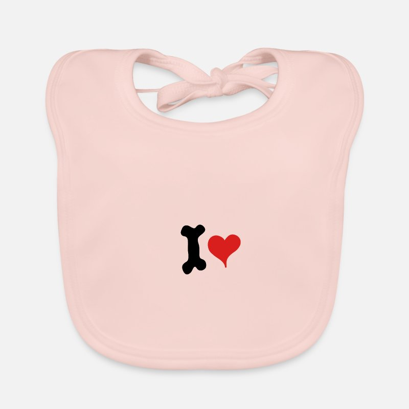 Love Baby Clothes - I love - Baby Bib rose