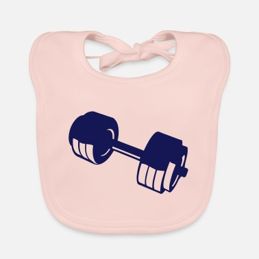 Lifting weight lifting bodybuilding weight 10405 - Baby Bib