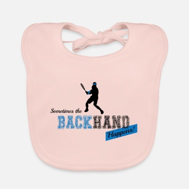 Backhand Tennis Backhand - Baby Bib