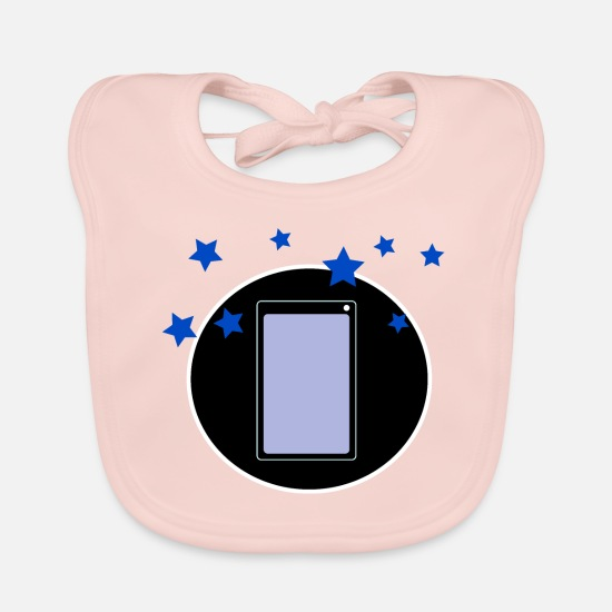 Love Baby Clothes - Smartphone & Stars - Baby Bib rose