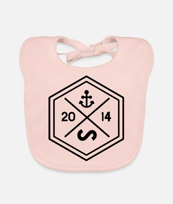 Brand Baby Bibs - Sixty-two wear brand design octagon - Baby Bib rose