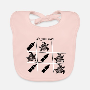 Climate it's your turn - reduce your plastic- save trutles - Baby Bib