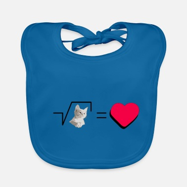 Pull The Root Biscuits Cats Mathematical Hearts Love Love - Baby Bib