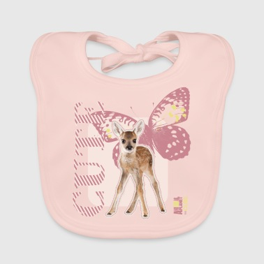 Animal Planet Cute Deer with Butterfly - Baby Organic Bib