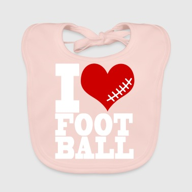 I LOVE FOOTBALL - Baby Bio-Lätzchen