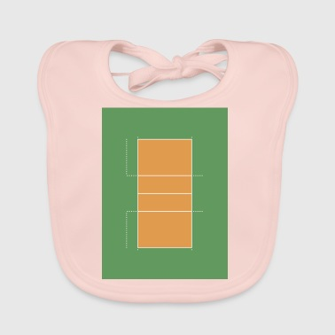 volleyball-court - Baby Organic Bib