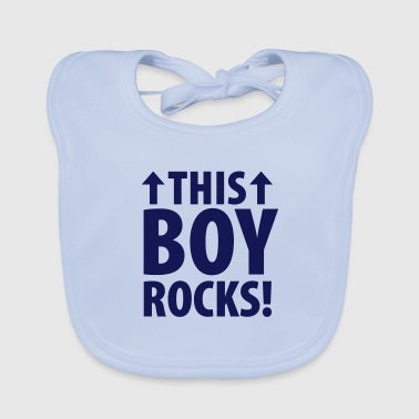 This boy rocks (dh) - Baby Bio-Lätzchen