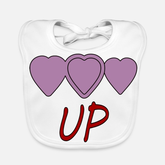 Love Baby Clothes - UP - Baby Bib white