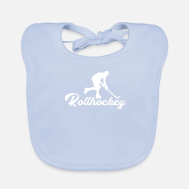 Funny Quotes Rollhockey, perfect cadeau - Bio-slabbetje voor baby's