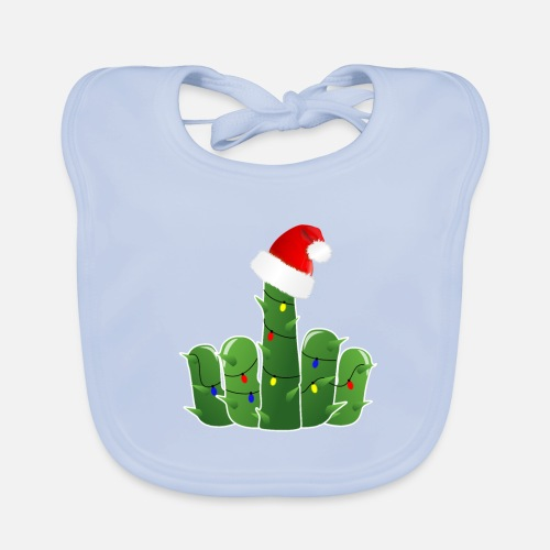4a02deed0 Cactus Naughty middle finger gift Christmas Baby Bib | Spreadshirt